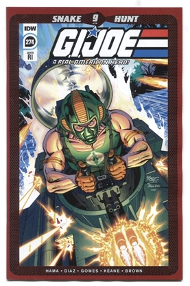 Picture of GI JOE A REAL AMERICAN HERO #274 RI CVR 1:10 COPPERHEAD VARIANT NM-