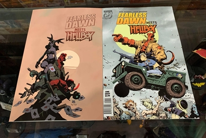 Picture of FEARLESS DAWN MEETS HELLBOY ONE SHOT (2020) 2 COVER SET NM