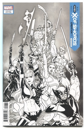 Picture of X OF SWORDS CREATION #1 1 PER STORE SKETCH VARIANT NM-