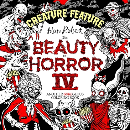 Picture of BEAUTY OF HORROR SC CREATURE FEATURE COLORING BOOK