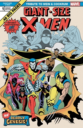 Picture of GIANT SIZE X-MEN TRIBUTE WEIN COCKRUM #1 MOORE VARIANT