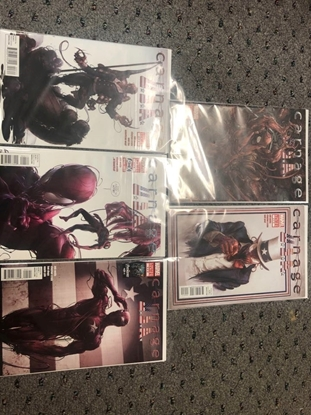 Picture of CARNAGE USA #1 2ND PRINT #2-5 SET