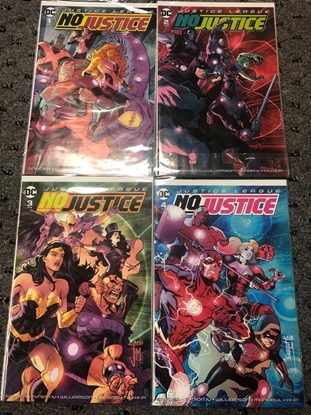 Picture of JUSTICE LEAGUE NO JUSTICE #1-4 SET