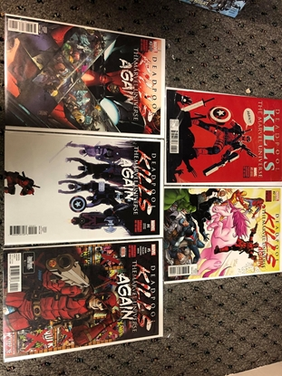 Picture of DEADPOOL KILLS MARVEL UNIVERSE AGAIN #1-5 VARIANT COVER SET