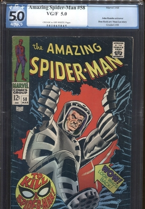 Picture of AMAZING SPIDER-MAN #58 PGX 5.0 VG/FN