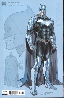 Picture of BATMAN #100 INC 1:25 JORGE JIMENEZ BATMAN CARD STOCK VAR (JOKER WAR)