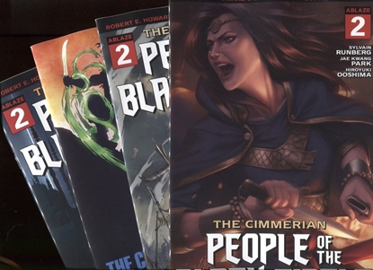 Picture of CIMMERIAN PEOPLE OF BLACK CIRCLE #2 COVER A B C D SET