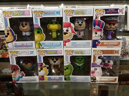 Picture of FUNKO POP HANNA-BARBERA LOT OF 8 NEW  DASTERDLY MORROCCO WALLY BREEZLY