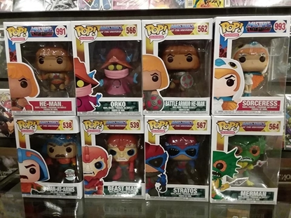 Picture of FUNKO POP HE-MAN MASTERS OF THE UNIVERSE SET OF  8 NEW HE-MAN ORKO BEASTMAN