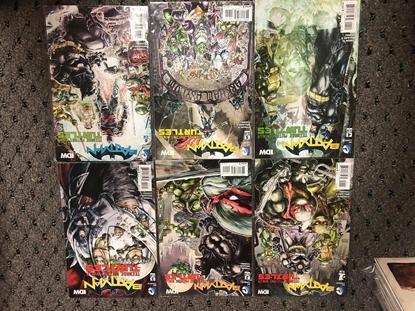 Picture of BATMAN TEENAGE MUTANT NINJA TURTLES (2016) #1-6 SET