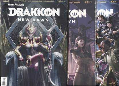 Picture of POWER RANGERS DRAKKON NEW DAWN #1-3 COVER A SET