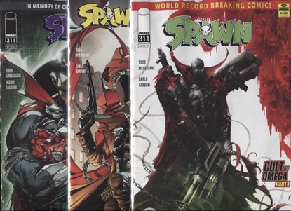Picture of SPAWN #311 COVER A B C SET