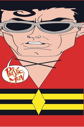Picture of PLASTIC MAN RUBBER BANDED DELUXE EDITION HC