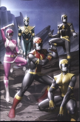 Picture of MIGHTY MORPHIN #1 ONE PER STORE THANK YOU VARIANT