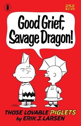 Picture of SAVAGE DRAGON #252 2ND PTG CHARLIE BROWN PARODY CVR (MR)