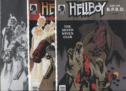 Picture of HELLBOY & THE BPRD THE SEVEN WIVES CLUB COVER A + B + C SET