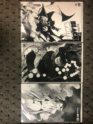 Picture of BATMAN BLACK AND WHITE #1 COVER A B C SET