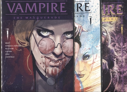 Picture of VAMPIRE THE MAQUERADE #1 COVER A B C SET