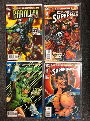 Picture of TALES OF THE SINESTRO CORPS PARALLAX, SUPERMAN, ION, & PRIME #1 SET