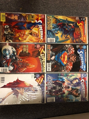 Picture of SUPERMAN GODFALL 6-ISSUE SET SUPERMAN 625 626 202 203 ACTION 812 813