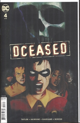 Picture of DCEASED #4 (OF 6) CARD STOCK HORROR VARIANT ED