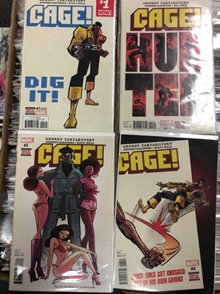 Picture of CAGE #1 2ND PRINT #2-4 1ST PRINT SET NM