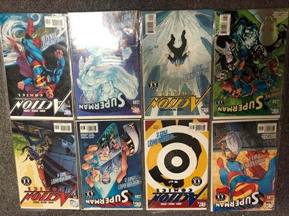 Picture of SUPERMAN #650 651 652 653 ACTION COMICS #837 838 839 840 UP UP AND AWAY SET