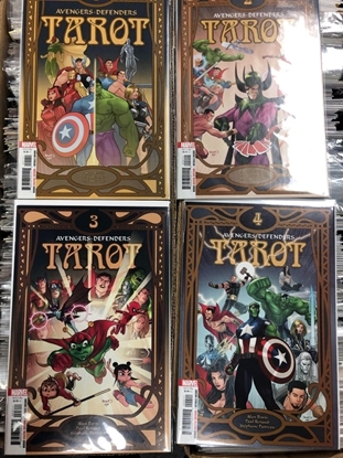 Picture of AVENGERS-DEFENDERS TAROT #1 2 3 4 / ALAN DAVIS-PAUL RENAUD