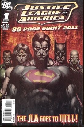 Picture of JUSTICE LEAGUE OF AMERICA 80-PAGE GIANT 2011 #1 / 9.4 NM ARTGERM COVER