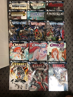 Picture of BATTLE FOR THE COWL #1-3, AZRAEL, ORACLE, ONE-SHOTS 15 ISSUE SET