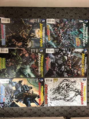 Picture of FOREVER EVIL ARKHAM WAR 2013 #1 2 3 4 5 6 / TOMASI-MENDOZA-FABOK NM SET