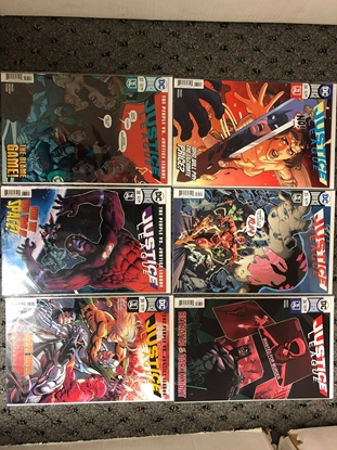 Picture of JUSTICE LEAGUE 2018 #34-39 PEOPLE VS THE JUSTICE LEAGUE SET NM