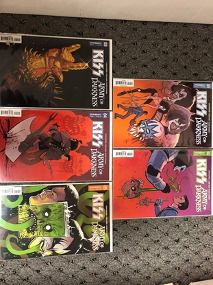 Picture of KISS ARMY OF DARKNESS #1 2 3 4 5 / COVER A 1ST PRINT SET / DYNAMITE NM