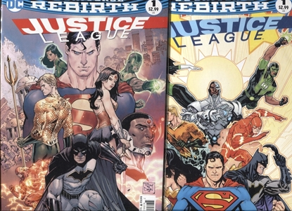Picture of JUSTICE LEAGUE REBIRTH 2016 #1 / COVER A + B VARIANT SET