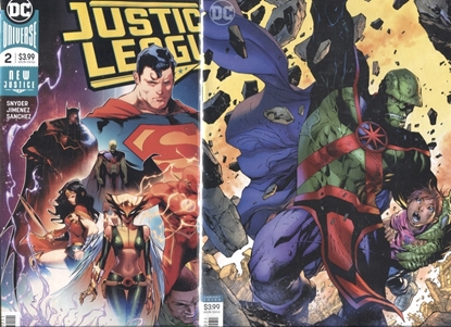Picture of JUSTICE LEAGUE 2018 #2 COVER A + B VARIANT SET