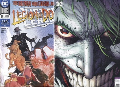 Picture of JUSTICE LEAGUE 2018 #8 COVER A + B JIM LEE JOKER VARIANT NM