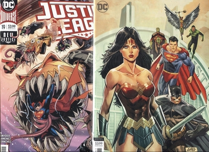 Picture of JUSTICE LEAGUE 2018 #19 / COVER A + B VARIANT BY ROB LIEFELD / NM