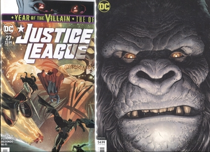 Picture of JUSTICE LEAGUE 2018 #27 / COVER A + B ART ADAMS GRODD VARIANT / YOTV NM
