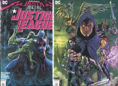 Picture of JUSTICE LEAGUE 2018 #56 / COVER A + B VARIANT SET / DARK NIGHTS DEATH METAL NM