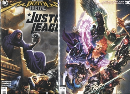 Picture of JUSTICE LEAGUE 2018 #57 / COVER A + B VARIANT / DARK NIGHTS DEATH METAL / NM