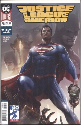 Picture of JUSTICE LEAGUE OF AMERICA #28 / MATTINA SUPERMAN VARIANT COVER
