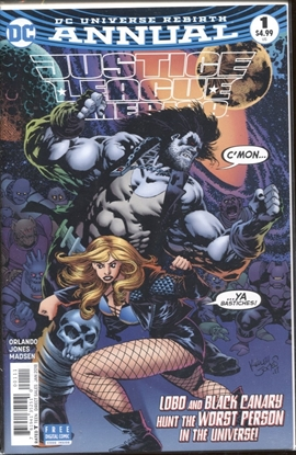 Picture of JUSTICE LEAGUE OF AMERICA REBIRTH ANNUAL 2017 #1 / KELLEY JONES COVER NM