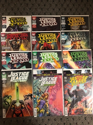 Picture of JUSTICE LEAGUE ODYSSEY #1-12 1ST PRINT SET
