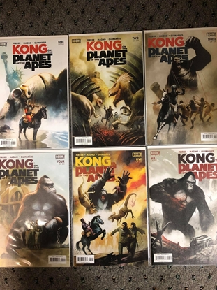 Picture of KONG ON PLANET OF APES #1 2 3 4 5 6 / 1ST PRINT SET BOOM! / FERRIER NM