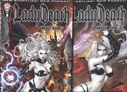 Picture of LADY DEATH UNHOLY RUIN #1-2 SET