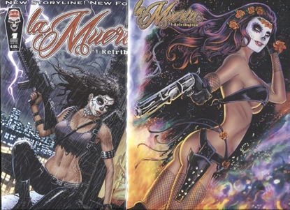 Picture of LA MUERTA RETRIBUTION #1  COVER A + FIREPOWER VARIANT
