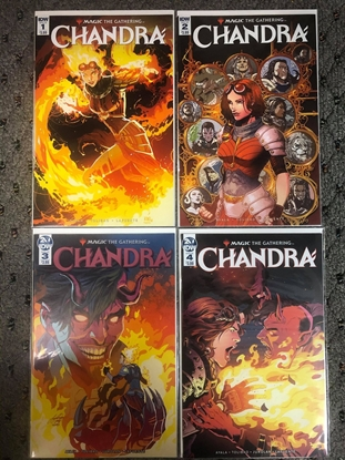 Picture of MAGIC THE GATHERING CHANDRA #1 2 3 4 / 1ST PRINT SET / IDW NM MTG