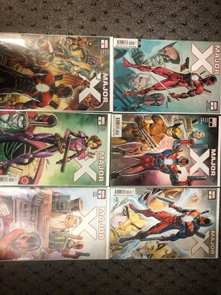 Picture of MAJOR X #1 3RD PRINT #2 3 4 5 6 / FULL SET BY ROB LIEFELD / NM