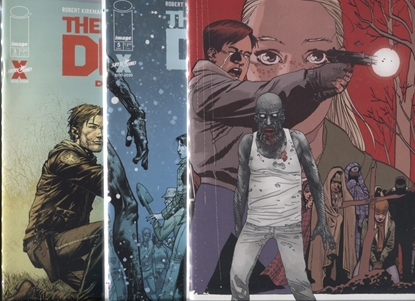Picture of WALKING DEAD DELUXE #5 COVER A B C SET NM