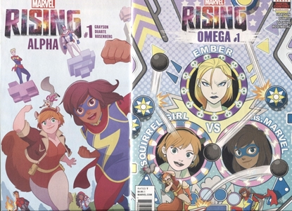Picture of MARVEL RISING ALPHA + OMEGA #1 / 1ST PRINT SET NM